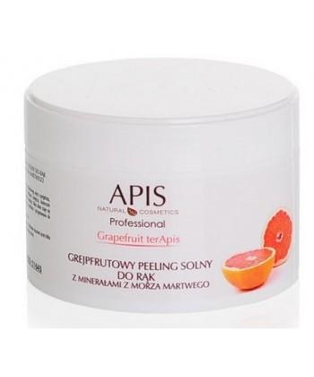 APIS Grapefruit terApis - grejpfrutowy peeling solny do rąk z minerałami z Morza Martwego, usuwający zrogowaciałą warstwę skóry