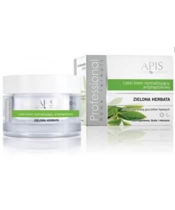 APIS lekki krem normalizujący, antytrądzikowy z zieloną herbatą do twarzy dla cery trądzikowej redukujący wydzielanie sebum
