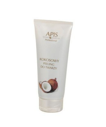 Profesjonalny kokosowy peeling do twarzy o działaniu oczyszczającym, wygładzającym i odświeżającym skórę od marki APIS