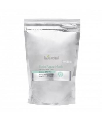 Bielenda Professional łagodząca maseczka algowa z cynkiem do twarzy dla cery naczynkowej i wrażliwej, zapewniająca efekt KRIO