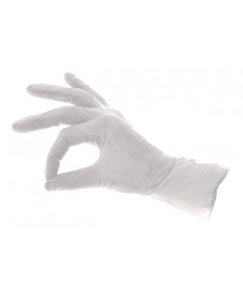 Naturalne rękawiczki lateksowe do jednorazowego użytku ochrony rąk, w opakowaniu dostępnych jest 100 szt