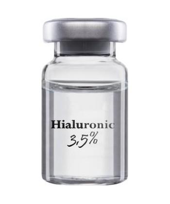 Innovapharm Hialuronic 3,5% to ampułka z kwasem hialuronowym zapewniającym właściwą sprężystość tkanek do zabiegów mezoterapii