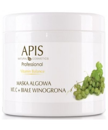 APIS Vitamin Balance domowa maseczka algowa z witaminą C i białymi winogronami, z potwierdzoną opinią rozjaśniania przebarwień