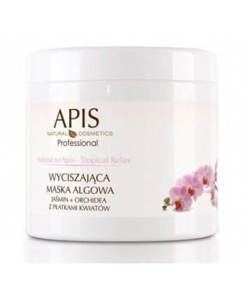 APIS Natural terApis relaksująca i wyciszająca maseczka algowa z jaśminem i orchideą z płatkami kwiatów
