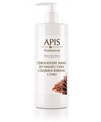 APIS czekoladowe masło do masażu ciała o właściwościach rozgrzewających i redukujących cellulit wraz z tkanką tłuszczową