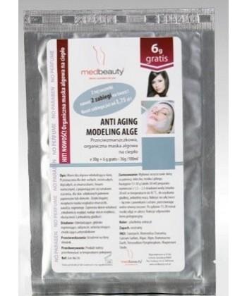Medbeauty przeciwzmarszczkowa maseczka algowa z gruszką balsamiczną do twarzy, zapewniająca naturalny efekt anti aging