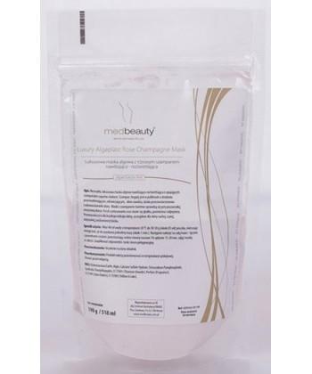 Medbeauty Luxury kosmetyk - luksusowa maseczka algowa z różowym szampanem do twarzy o działaniu nawilżająco rozświetlającym