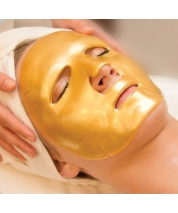 Medbeauty hydrożelowa maseczka z kolagenem i koloidalnym złotem do twarzy o silnym działaniu przeciwzmarszczkowym