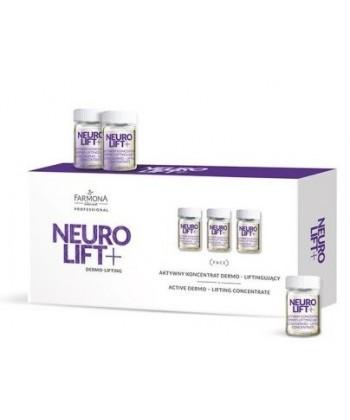Farmona Professional Neuro Lift to aktywne ampułki o właściwościach dermo liftingujących do widocznej poprawy owalu twarzy
