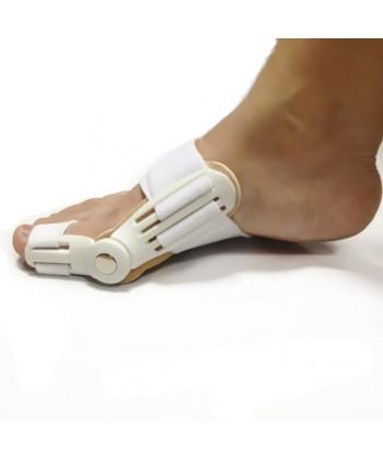 Profesjonalna, solidna i uniwersalna szyna korygująca z metalowym zawiasem na halluksy do stopy