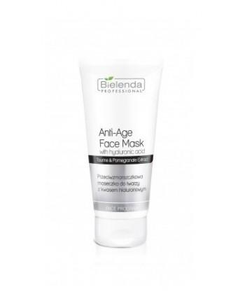 Bielenda Professional przeciwzmarszczkowa maseczka do twarzy z kwasem hialuronowym, do pielęgnacji cery dojrzałej i suchej