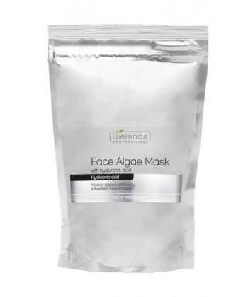 Bielenda maseczka algowa do twarzy z kwasem hialuronowym, do pielęgnacji cery suchej ze zmarszczkami w opakowaniu uzupełniającym