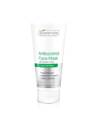 Bielenda Professional antybakteryjna maska do twarzy z glinką zieloną szczególnie do pielęgnacji cery trądzikowej i tłustej