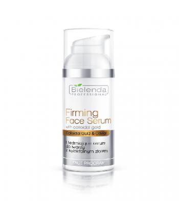 Bielenda Professional ujędrniające serum do pielęgnacji twarzy z koloidalnym złotem o właściwościach uelastyczniających skórę