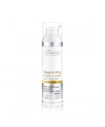 Bielenda Professional krem silnie regenerujący do twarzy z koloidalnym złotem i filtrem ochronnym SPF 10