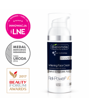 Bielenda Professional Reti-Power 2 VC to krem o właściwościach wybielających do twarzy na przebarwienia i nierówny koloryt skóry