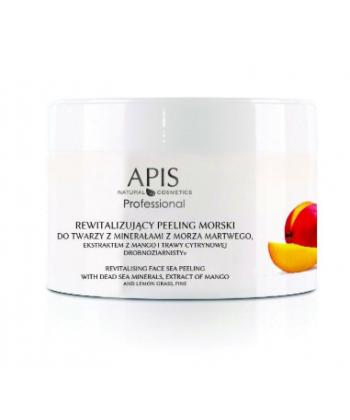 APIS profesjonalny peeling morski drobnoziarnisty do twarzy z minerałami z Morza Martwego, ekstraktem z mango i trawą cytrynową