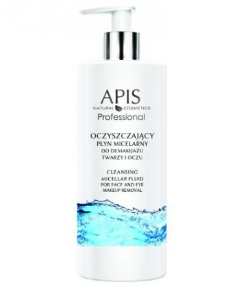 APIS lekki oczyszczający płyn micelarny do skutecznego usuwania makijażu twarzy i oczu dla każdego rodzaju cery