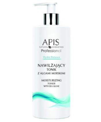 APIS Hydro Balance nawilżający tonik z algami morskimi do twarzy, szyi i dekoltu przywracający naturalne pH naskórka