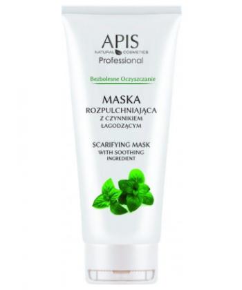 APIS profesjonalna maseczka rozpulchniająca o dobrych opiniach z czynnikiem łagodzącym, idealna przed oczyszczaniem skóry
