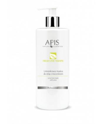 APIS naturalna limonkowa maseczka do stóp z mocznikiem intensywnie nawilżająca i zmiękczająca skórę