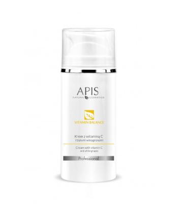 APIS Vitamin Balance krem z witaminą C i białymi winogronami dla cery wrażliwej i naczynkowej przywracający elastyczność i blask