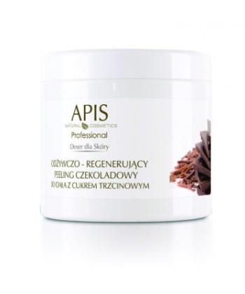 APIS Deser dla skóry profesjonalny odżywczo regenerujący peeling czekoladowy do lekkiego natłuszczenia ciała z cukrem trzcinowym