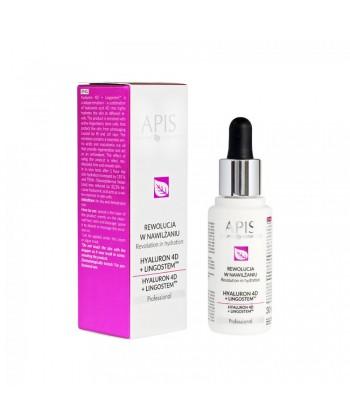 Apis Hyaluron 4D i Lingostem - profesjonalne serum natłuszczające i chroniące skórę dla cery suchej pod maskę algową lub kremową