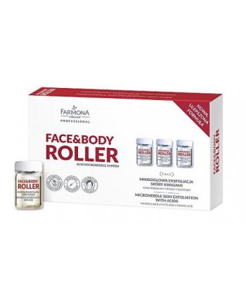 Farmona Face Body Roller ampułki z kwasem szikimowym i fitowym do mikroigłowej eksfoliacji skóry kwasami z użyciem derma rollera