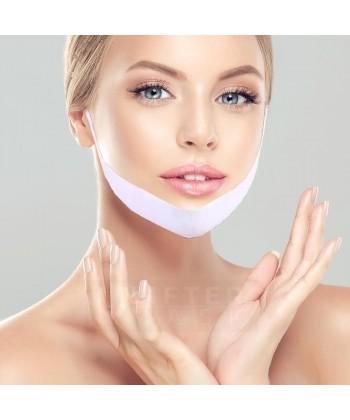 Modelująca opaska w formie maski usuwającej drugi podbródek