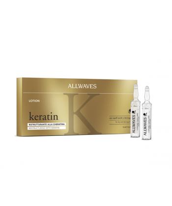 Allwaves keratin to kuracja odbudowująca w ampułkach z keratyną do suchych, zniszczonych i łamliwych włosów