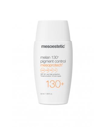 Mesoestetic Mesoprotech lekki fluid z pigmentem i filtrem SPF 50+ do ochrony skóry przed powstawaniem przebarwień