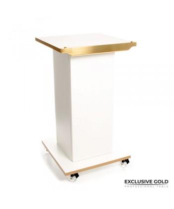 Stolik kosmetyczny Exclusive Gold z złotymi elementami