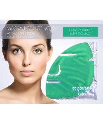 Energetyzująca maska w postaci hydrożelowego płata z naturalną zieloną herbatą idealnie nadaje się do zabiegów łagodzących