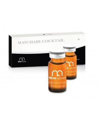 Terapia odżywiająca i pobudzająca cebulki włosów w postaci medycznego koktajlu w ampułkach Mesoaroma