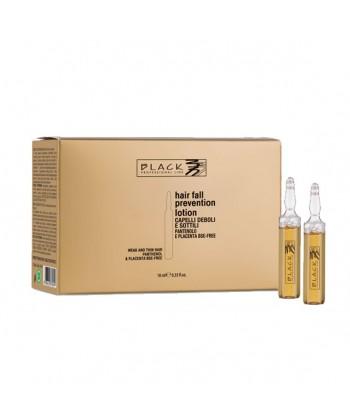 Ampułki Black z placentą i witaminą B skutecznie odżywiają, wzmacniają cebulki włosów i przeciwdziałają ich wypadaniu