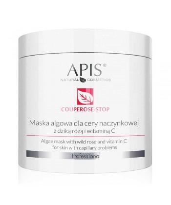 APIS Couperose Stop wzmacniająca maseczka algowa z dziką różą, rutyną i witaminą C dla cery z problemami naczynkowymi