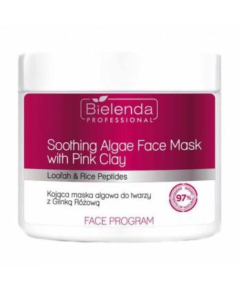 Bielenda Professional Kojąca maska algowa do twarzy z glinką różową 160g