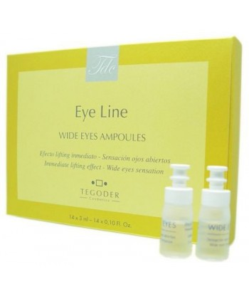 Tegoder Eye Line Wide Eyes Ampoules to profesjonalne ampułki do silnego liftingu skóry wokół oczu