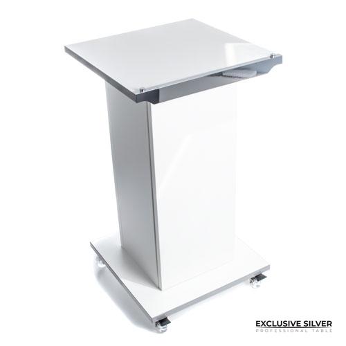 Stolik na kółkach Exclusive Gold / Silver w stylu glamour jest niezwykle praktyczny