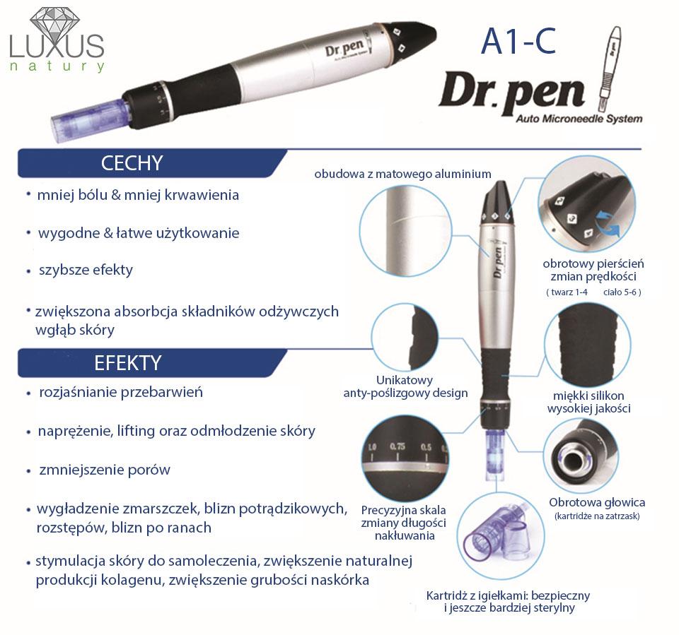 Urządzenie Dr Pen usuwa zmarszczki, blizny, przebarwienia i rozstępy