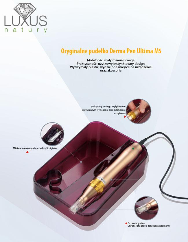 Profesjonalne urządzenie kosmetologiczne do zabiegów mikronakłuwania skóry