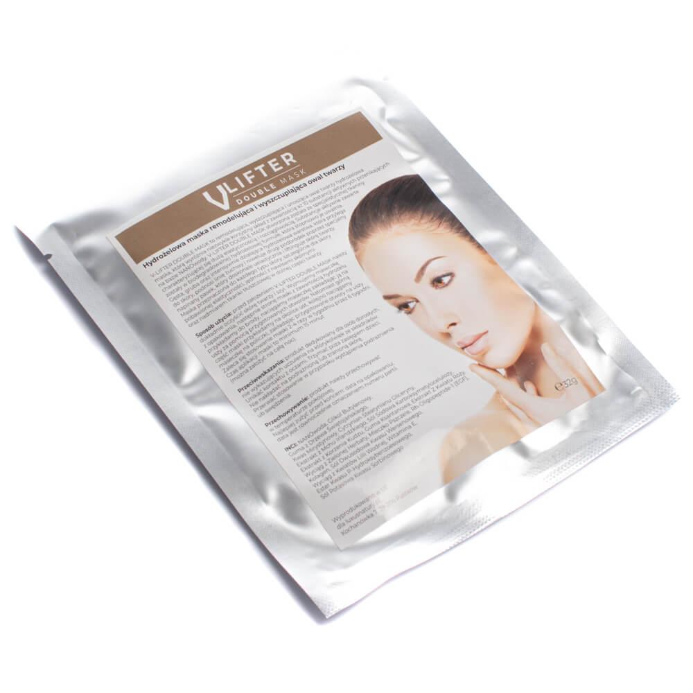 Specjalnie zaprojektowany napinający pasek maseczki kosmetycznej doskonale uelastycznia i liftnguje skórę twarzy