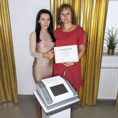 Laser naczyniowy do usuwania rozszerzonych naczynek, instruktaż został przeprowadzony w gabinecie firmowym w mieście Mielec