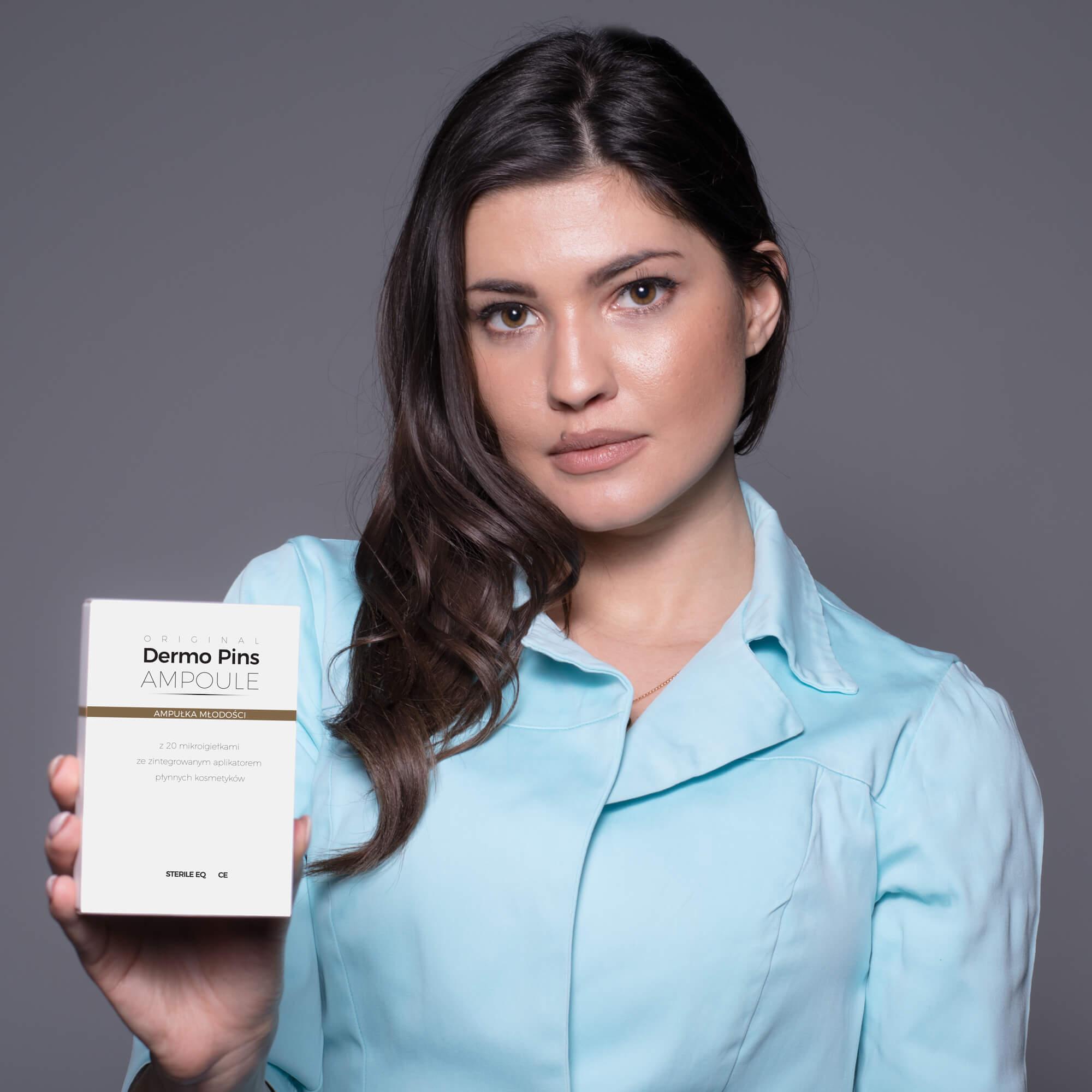 Ampułka z igiełkami jest bezpieczna w użyciu dla wszystkich rodzajów skóry