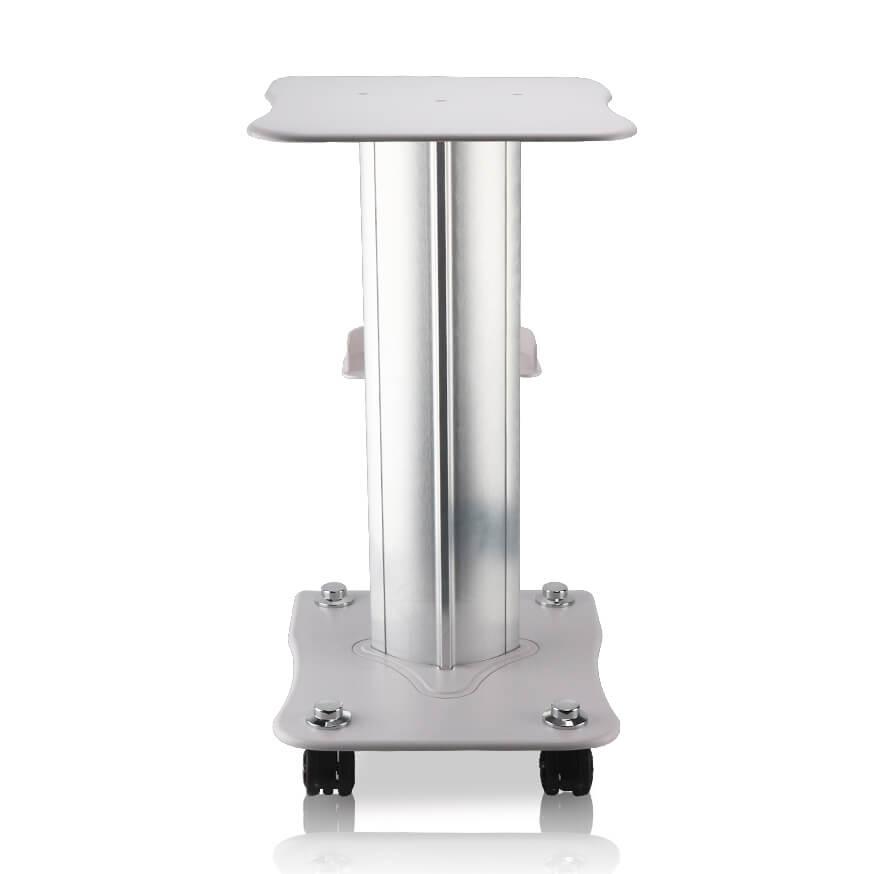 Mebel posiada gumowe kółka, które zapewniają stolikowi mobilność i łatwość w przesuwaniu