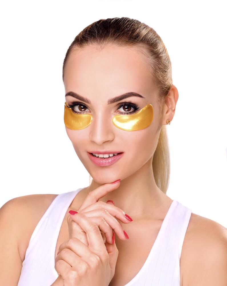 Kolagenowe płatki efektywnie wygładzają zmarszczki i regenerują skórę wokół oczu