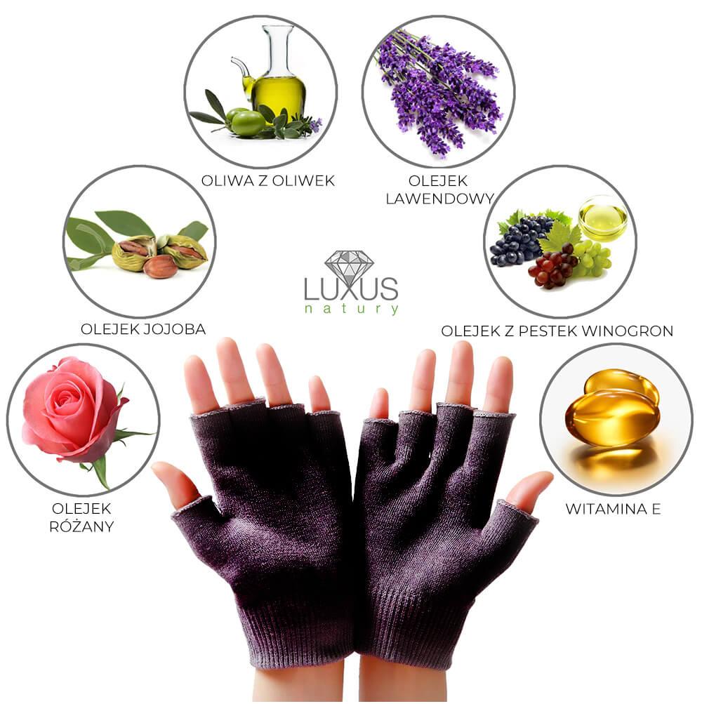 Rękawiczka żelowa na popękaną, przesuszoną i szorstką skórę u rąk