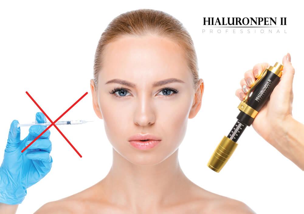 Hialuronpen II Professional został specjalnie stworzony dla kosmetologów, lekarzy i kosmetyczek