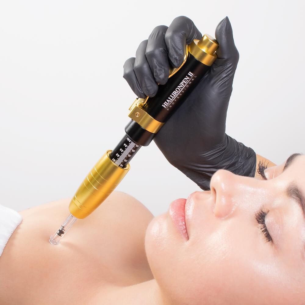 Mezoterapia głęboka (bez igieł) za pomocą nowoczesnej głowicy